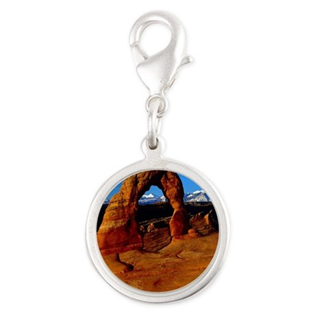 Arches National Park, Utah Silver Round Charm