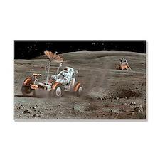 Apollo 16 lunar rover, artwork Car Magnet 20 x 12