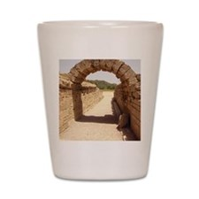 Ancient Olympia stadium entrance Shot Glass