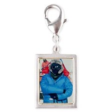 Antarctic researcher Silver Portrait Charm
