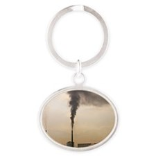 Air pollution Oval Keychain