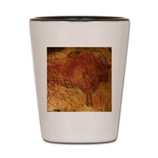 Altamira cave painting of a bison Shot Glass