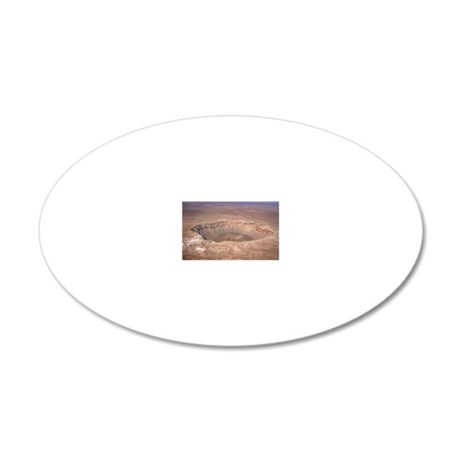 Aerial view of Meteor Crater 20x12 Oval Wall Decal