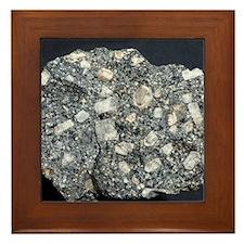 Anorthite in andesite Framed Tile