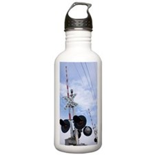 American railroad cros Water Bottle