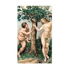 1863 Adam and Eve from zoology Decal
