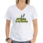 St. Patrick is my Homeboy Women's V-Neck T-Shirt