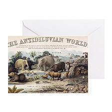 1849 The antidiluvian world crop Jur Greeting Card