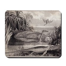 1837 Extinct prehistoric animals Dorset Mousepad