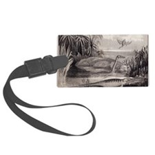 1837 Extinct prehistoric animals Luggage Tag