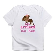 Personalized Just Arrived Baby Girl Monkey Infant