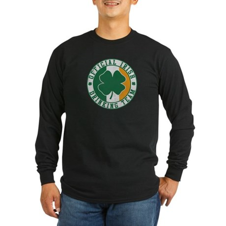 Official Irish Drinking Team Long Sleeve Dark T-Sh