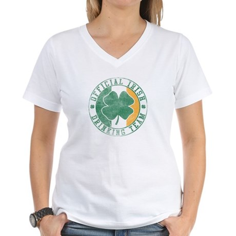 Official Irish Drinking Team Womens V-Neck T-Shir