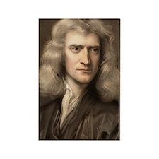 1689 Sir Isaac Newton portrait yo Rectangle Magnet