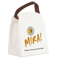 MIRA! logo and words Canvas Lunch Bag