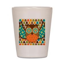 Owl Boheme Brown Shot Glass