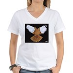 Domestic Flight Pigeon Women's V-Neck T-Shirt