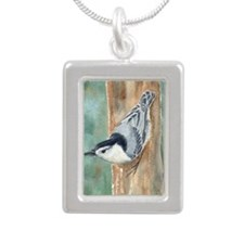 nuthatch Silver Portrait Necklace