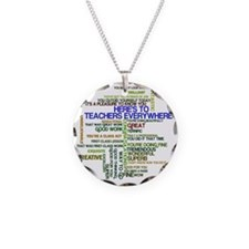 Great Teachers Word Art Necklace
