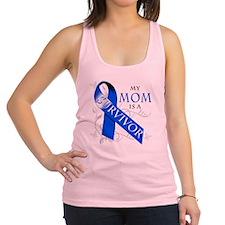 My Mom is a Survivor (blue) Racerback Tank Top