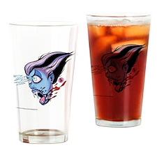 Vampire Woman Left Drinking Glass