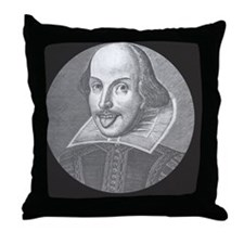 Wacky Shakespeare -BUT Throw Pillow