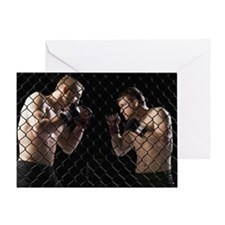 Cage fighters Greeting Card