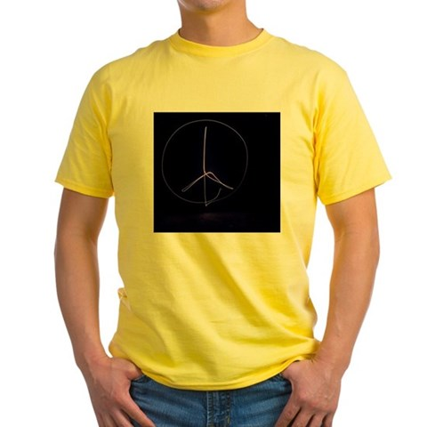 Light painting of a peace sign in Id T-Shirt