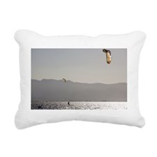 Kitesurfing Rectangular Canvas Pillow