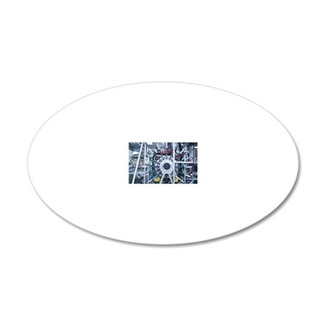 Part of particle accelerator 20x12 Oval Wall Decal