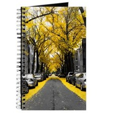 Yellow Ginko Tree Leaves Journal