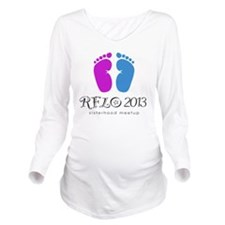 rflo meetup Long Sleeve Maternity T-Shirt