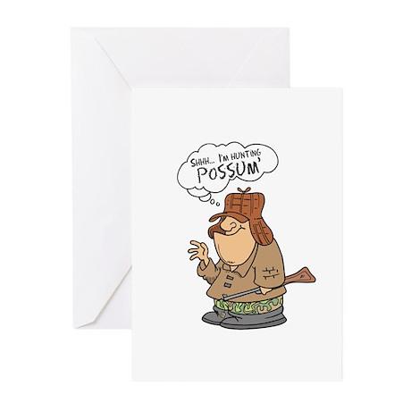 Redneck Possum' Hunter Greeting Cards (Package of