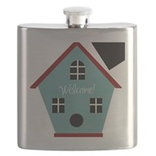 Welcome Birdhouse Flask