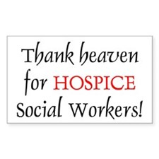 Thank Heaven Hospice BRT Rectangle Decal