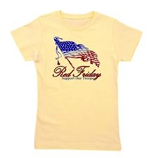 Red support Girl's Tee