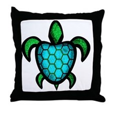 Blue Shell Turtle Throw Pillow