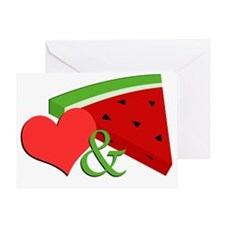 Love and Watermelon Greeting Card