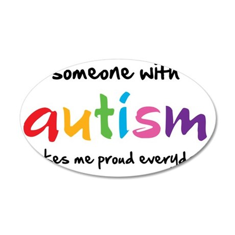 Proud Autism 35x21 Oval Wall Decal