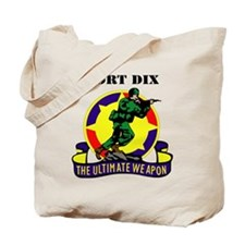 Fort Dix with Text Tote Bag