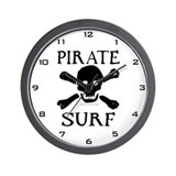 Pirate Surf Wall Clock