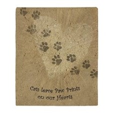 Paw Prints on our Hearts Throw Blanket