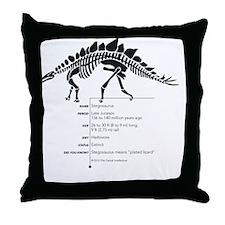 Stegosaurus Bones Throw Pillow
