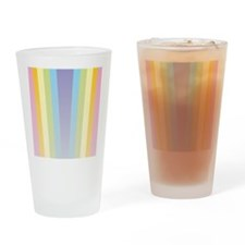 Pastel Rainbow Drinking Glass