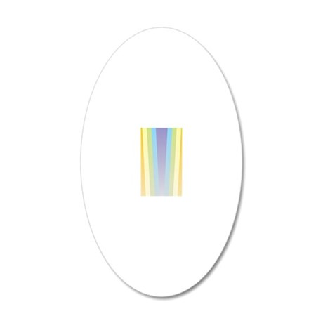 Pastel Rainbow 20x12 Oval Wall Decal