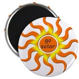 "Solar Energy - Go Green 2.25"" Magnet (100 pack)"