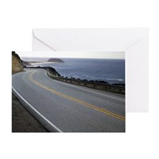 Pacific Coast Highway, Highway 1. Greeting Card