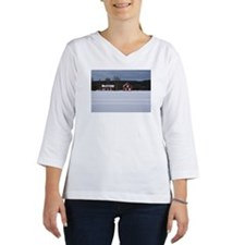 Red wooden houses, Norrland, Sw Women's Long Sleeve Shirt (3/4 Sleeve)