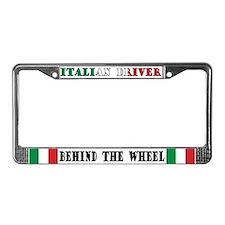 Italian Driver License Plate Frame