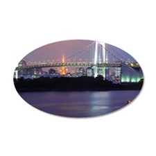 Rainbow bridge in Tokyo Wall Decal